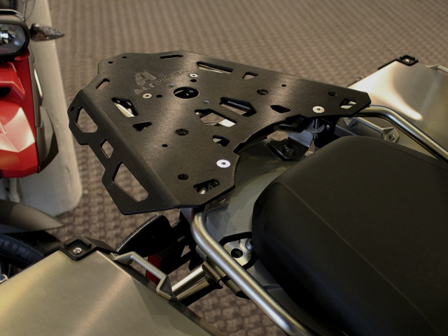 AltRider Rear Luggage Rack Kit for the BMW R 1200 GS Adventure (2008-current) - Installed