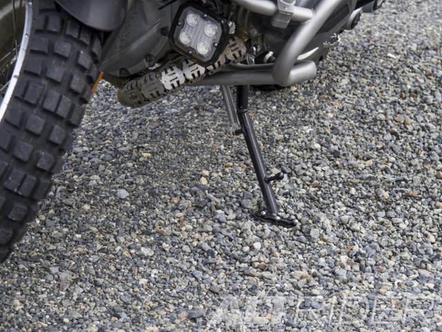 AltRider Side Stand Enlarger Foot for the BMW R 1200 GS Water Cooled (2013) - Black - Installed