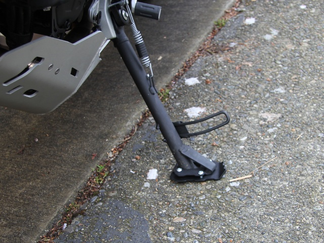 AltRider Side Stand Enlarger for the Ducati Multistrada 950 - Installed