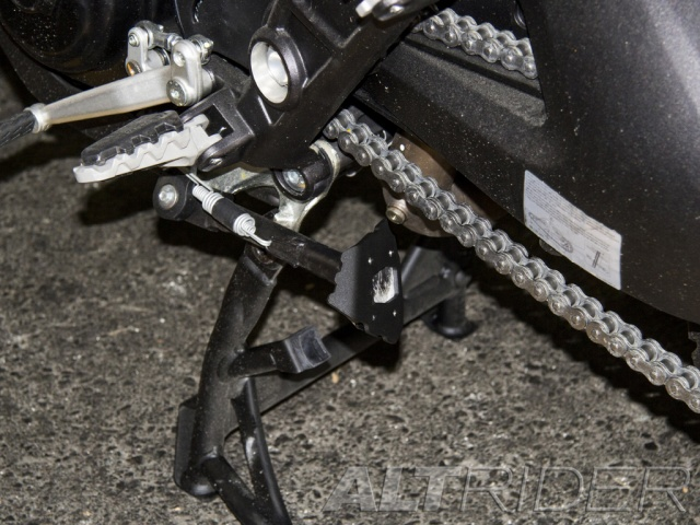 AltRider Side Stand Foot for Ducati Multistrada 1200 (2010-2014) - Black - Installed