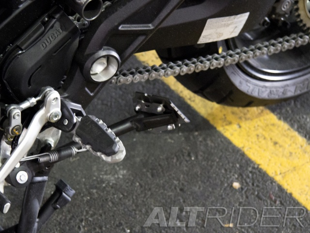 AltRider Side Stand Foot for Ducati Multistrada 1200 - Installed