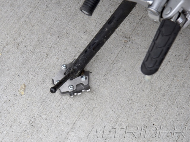 AltRider Side Stand Foot for Honda NC700X - Silver - Installed