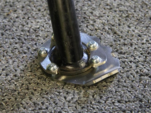 AltRider Side Stand Foot Kit for BMW F 650 GS - Silver - Installed
