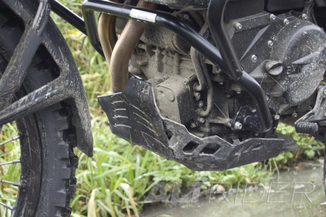 AltRider Skid Plate for BMW F 800 GS - Black - Installed