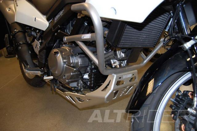 AltRider Skid Plate for Suzuki V-Strom DL 650 - Silver  - Installed