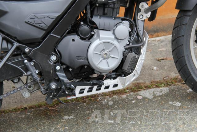 AltRider Skid Plate for the BMW G 650 GS - Installed