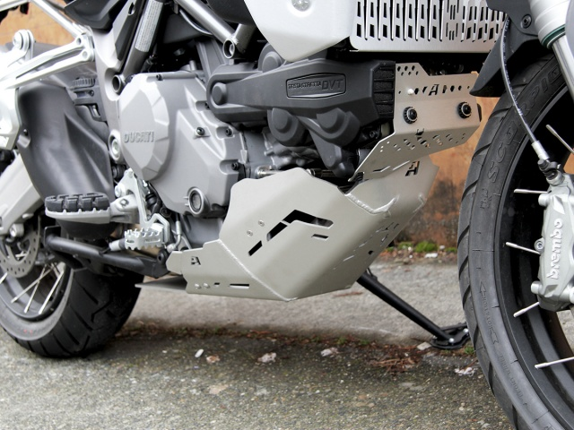 AltRider Skid Plate for the Ducati Multistrada 1200 (2015-current) - Installed