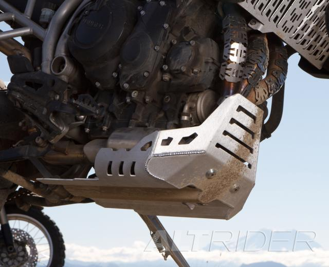 AltRider Skid Plate for the Triumph Tiger 800 - Silver - Installed