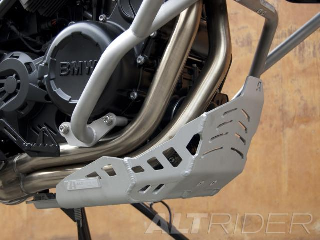 AltRider Skid Plate Kit for BMW F 650 GS - Silver  - Installed