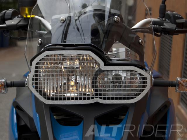 AltRider Stainless Steel Headlight Guard for the BMW F 650 GS - Installed