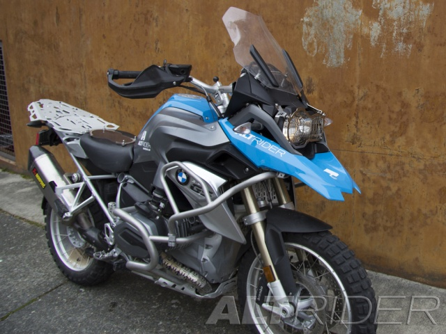 AltRider Stainless Steel Headlight Guard for the BMW R 1200 GS Water Cooled - Silver - Installed