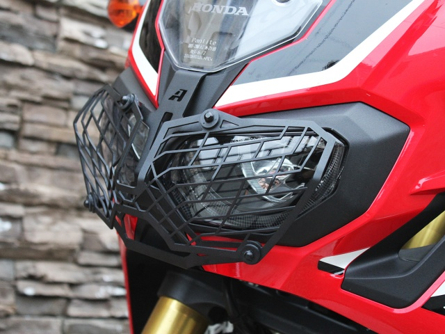 AltRider Stainless Steel Mesh Headlight Guard for the Honda CRF1000L Africa Twin - Installed