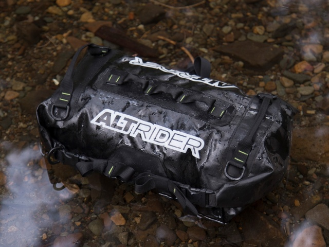 AltRider SYNCH Small Dry Bag - 14 Liter Grey - Installed