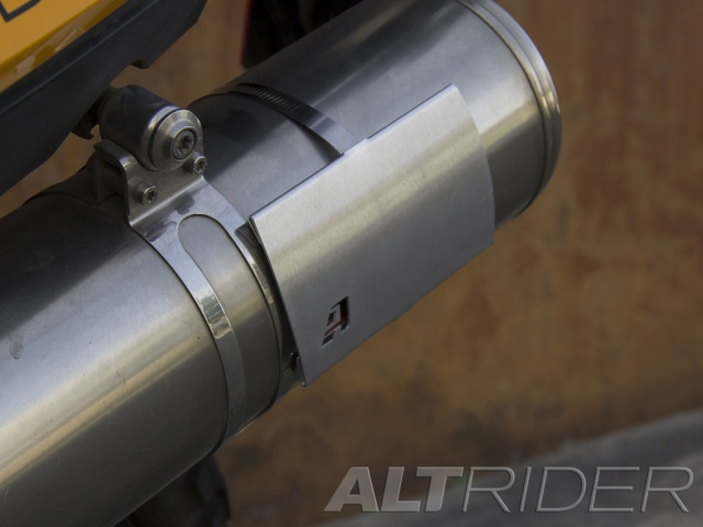 AltRider Universal Exhaust Heat Shield - Installed