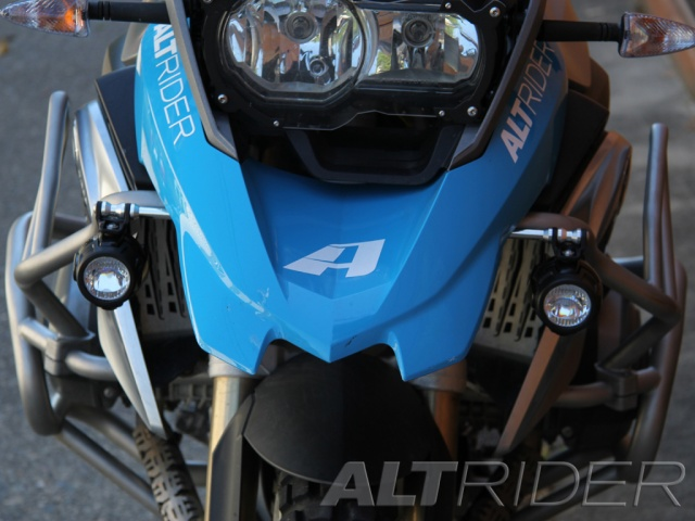 AltRider Upper Crash Bar Light Mount Kit for BMW R 1200 GS Water Cooled OEM LED - Installed