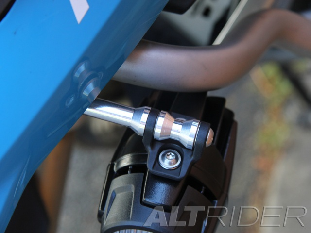 AltRider Upper Crash Bar Light Mount Kit for the BMW R 1200 GS Water Cooled OEM LED (2013-2016) - Installed