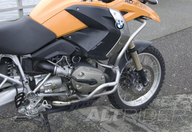 AltRider Upper Crash Bars Assembly for the BMW R 1200 GS (2008-2012) - Black - Installed
