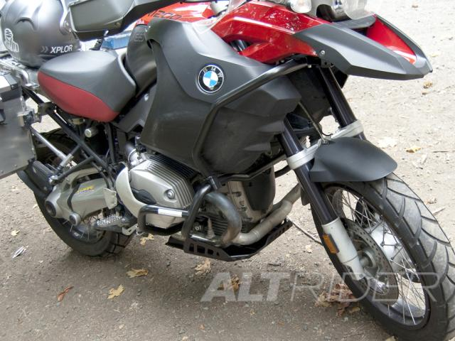 AltRider Upper Crash Bars Assembly for the BMW R 1200 GS (2008-2012) - Red - Installed