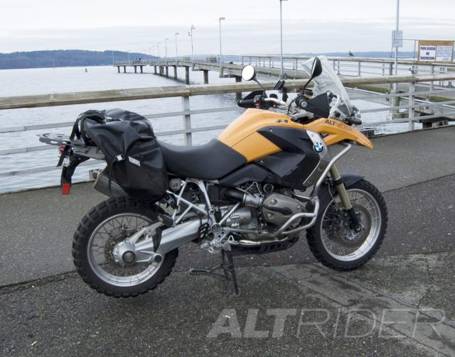 AltRider Upper Crash Bars Assembly for the BMW R 1200 GS (2008-2012) - Silver - Installed