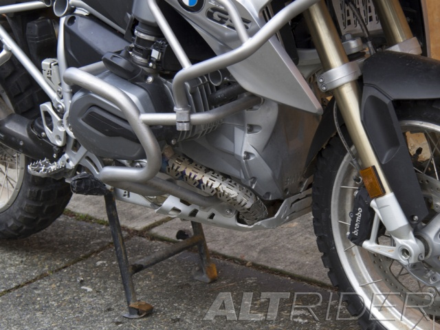 AltRider Upper Crash Bars for the BMW R 1200 GS Water Cooled (2013-2016) - Silver - Installed