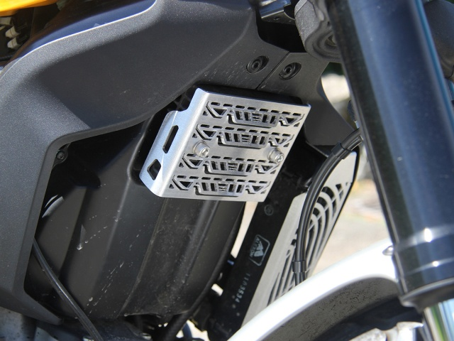 AltRider Voltage Regulator Guard for the Ducati Scrambler - Installed