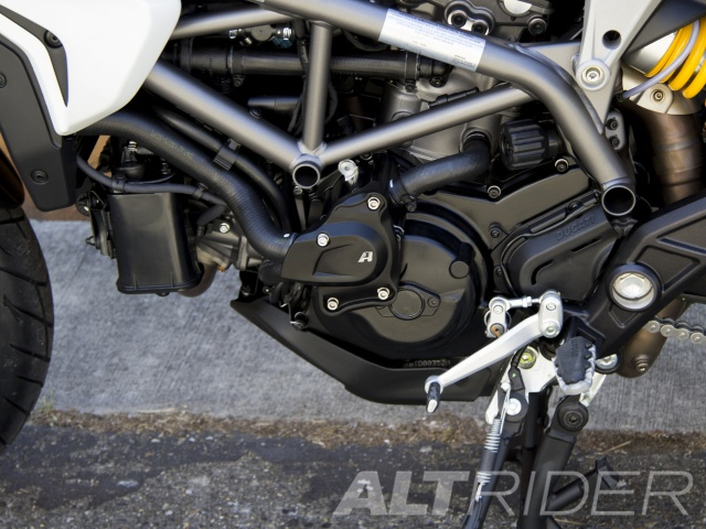 AltRider Water Pump Guard for Ducati Hyperstrada (2013-2015) - Installed
