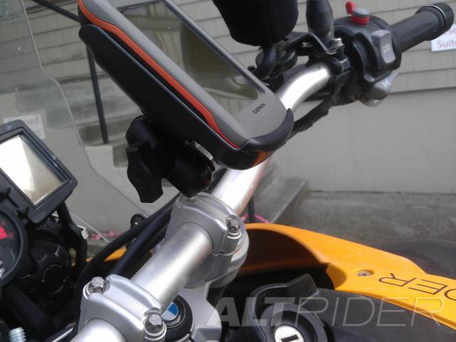 RAM Handlebar Clamp Mount - Installed