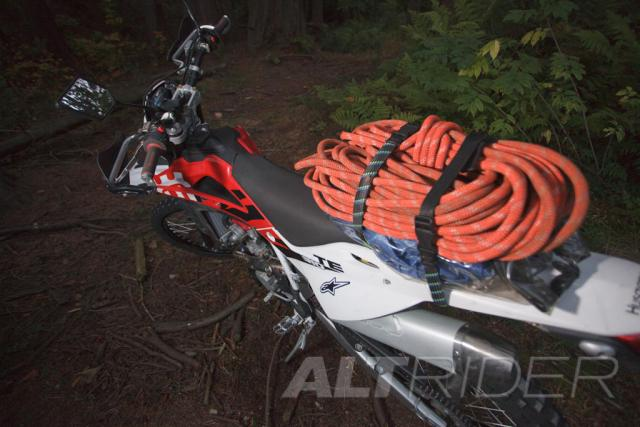 ROK STRAPS Motorcycle Tie Down Straps - Installed