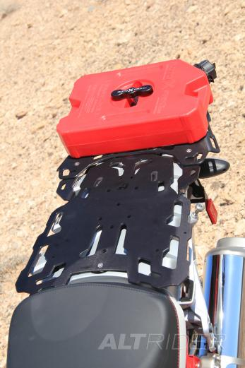 RotopaX One Gallon Gasoline Pack with Standard Mount & L Bracket Set - Installed