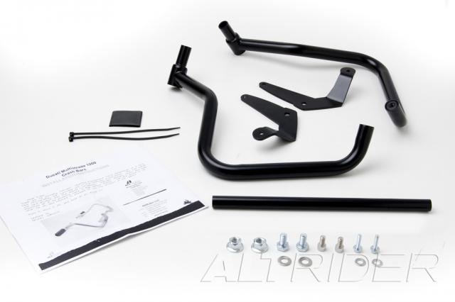 AltRider Crash Bars and Frame Slider Kit for the Ducati Multistrada 1200 (2010-2014) - Black - Product Contents