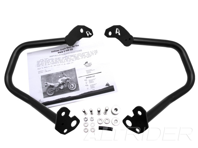 AltRider Crash Bars for the BMW G 650 GS - Black - Product Contents
