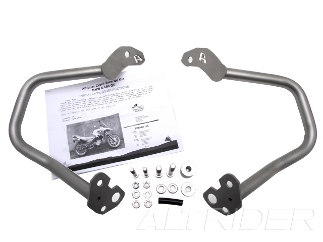 AltRider Crash Bars for the BMW G 650 GS - Silver - Product Contents