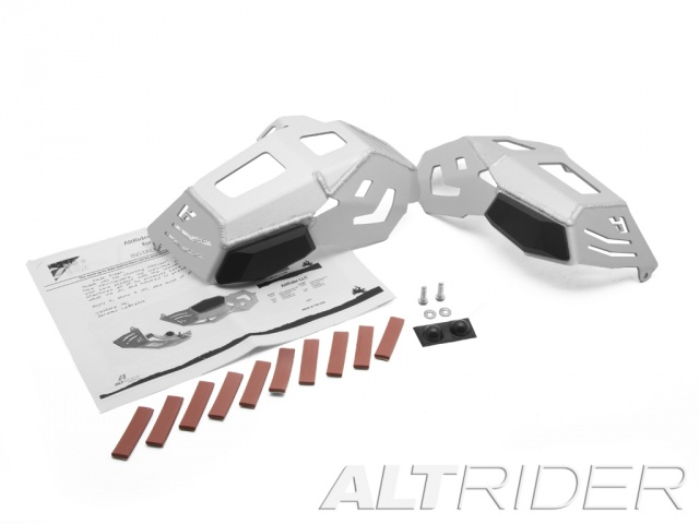 AltRider Cylinder Head Guards for the BMW R 1200 Water Cooled - Silver - Product Contents