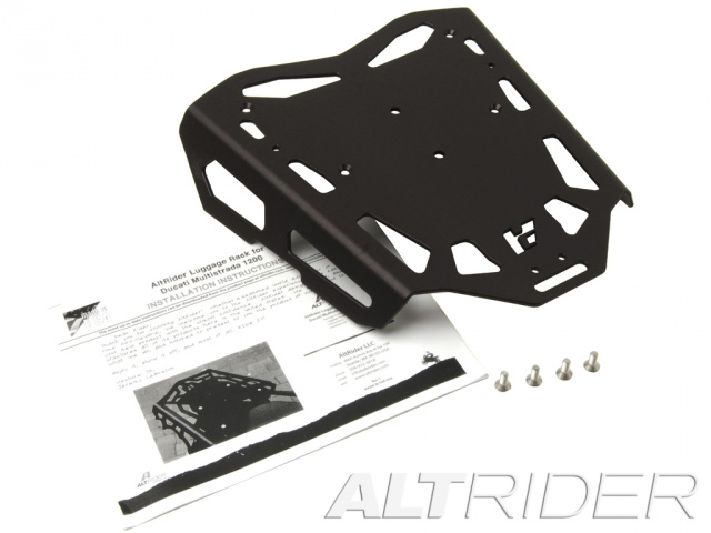 AltRider Luggage Rack for Ducati Hyperstrada - Black - Product Contents