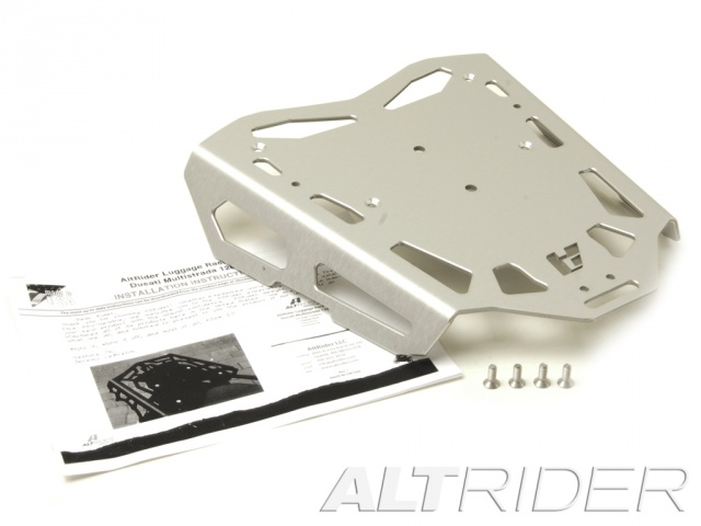 AltRider Luggage Rack for Ducati Hyperstrada - Silver - Product Contents