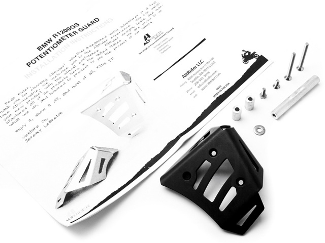 AltRider Potentiometer Guard for the BMW R 1200 GS (2003-2012) - Black - Product Contents