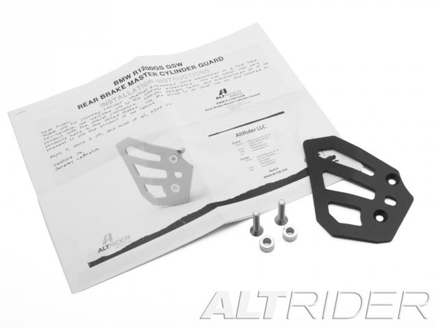 AltRider Rear Brake Master Cylinder Guard for the BMW R 1200 GS Water Cooled - Black - Product Contents