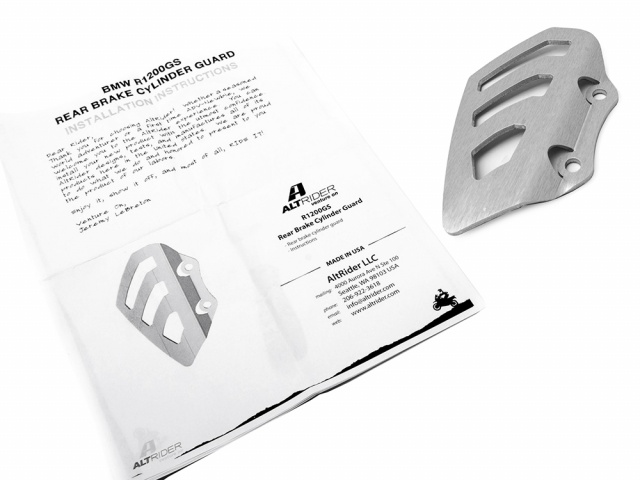 AltRider Rear Brake Master Cylinder Guard for the Husqvarna TR650 Terra and Strada - Silver - Product Contents