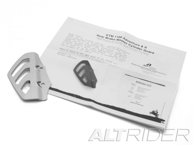 AltRider Rear Brake Master Cylinder Guard for the KTM 1050/1090/1190 Adventure / R - Product Contents