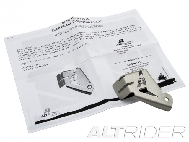 AltRider Rear Brake Reservoir Guard for the BMW R 1200 GS Water Cooled - Silver - Product Contents