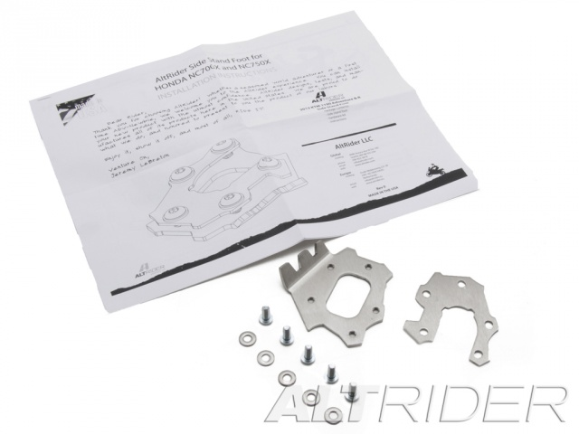AltRider Side Stand Foot for Honda NC700X - Silver - Product Contents