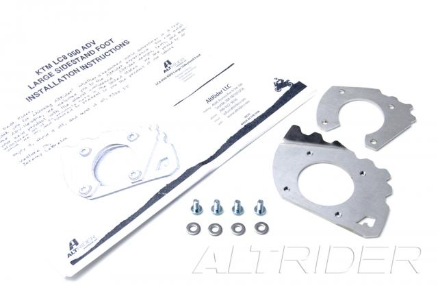 AltRider Side Stand Foot for KTM 950 ADV - Silver - Product Contents