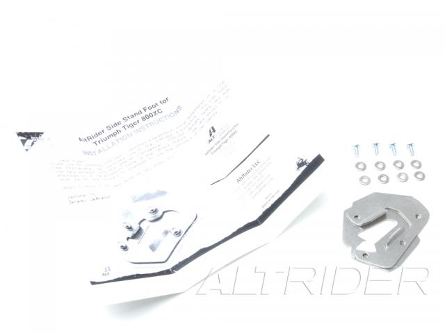 AltRider Side Stand Foot for Triumph Tiger 800 - Silver - Product Contents