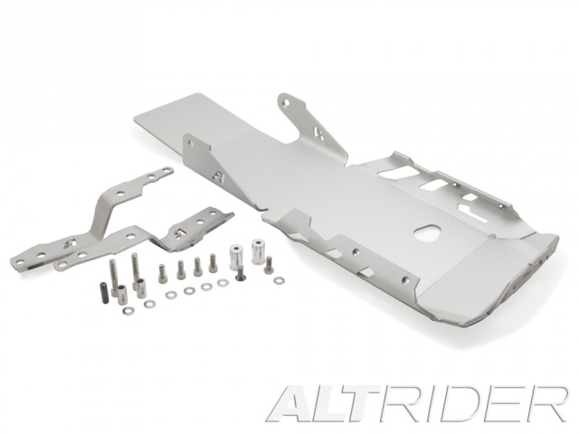 AltRider Skid Plate for the BMW R 1200 GS Water Cooled (2013-2015) - Silver - With Mounting Bracket - Product Contents
