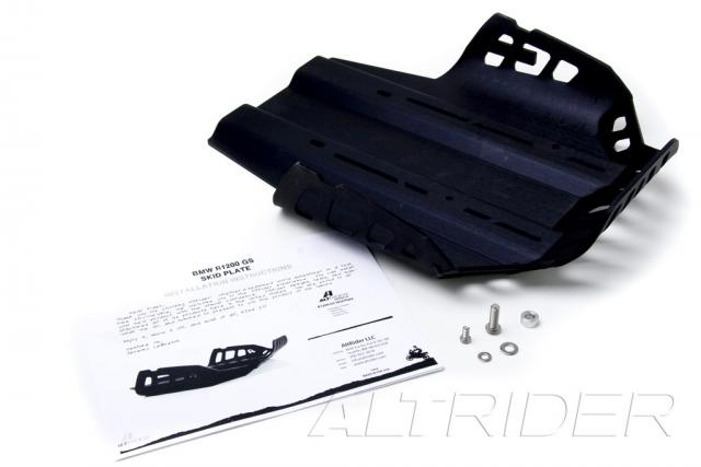 AltRider Skid Plate Kit in Black for the BMW R 1200 R - Product Contents