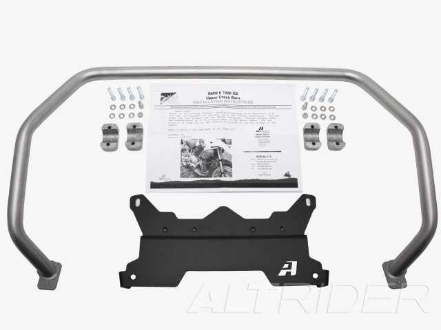 AltRider Upper Crash Bars Assembly for the BMW R 1200 GS (2008-2012) - Silver - Product Contents