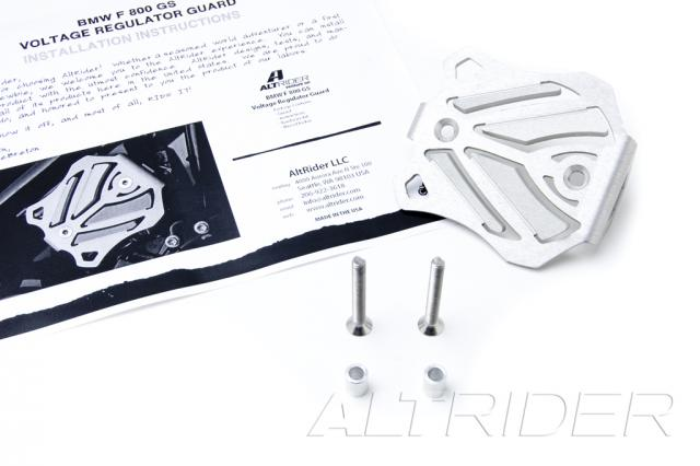AltRider Voltage Regulator Guard for the Husqvarna TR650 Terra and Strada - Silver - Product Contents