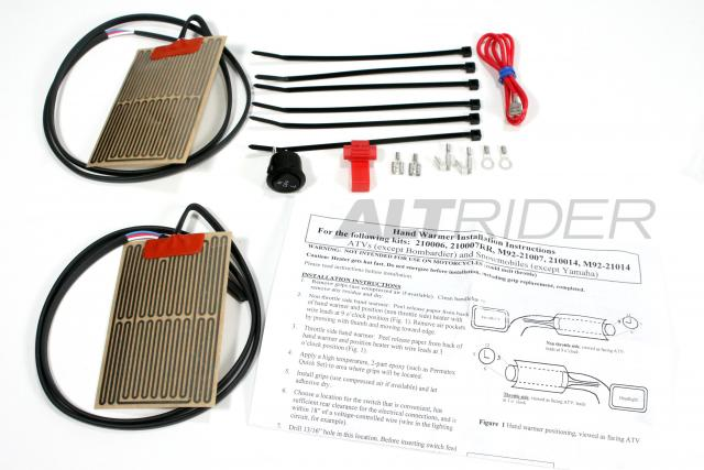 Handlebar Heated Grip Kit - Product Contents