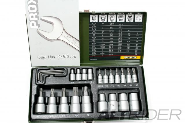 Proxxon 23-Piece TORX Socket Set - Product Contents