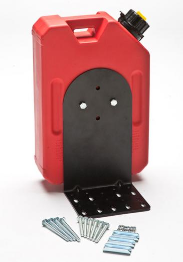 RotopaX One Gallon Gasoline Pack with Standard Mount & L Bracket Set - Product Contents